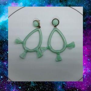BaubleBar Mint Drop Earrings NWOT